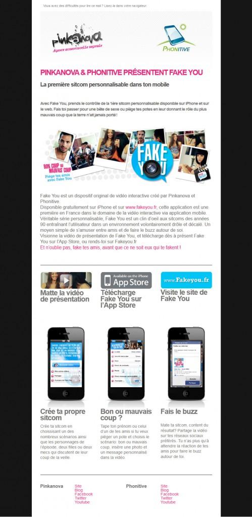 Newsletter Fake you