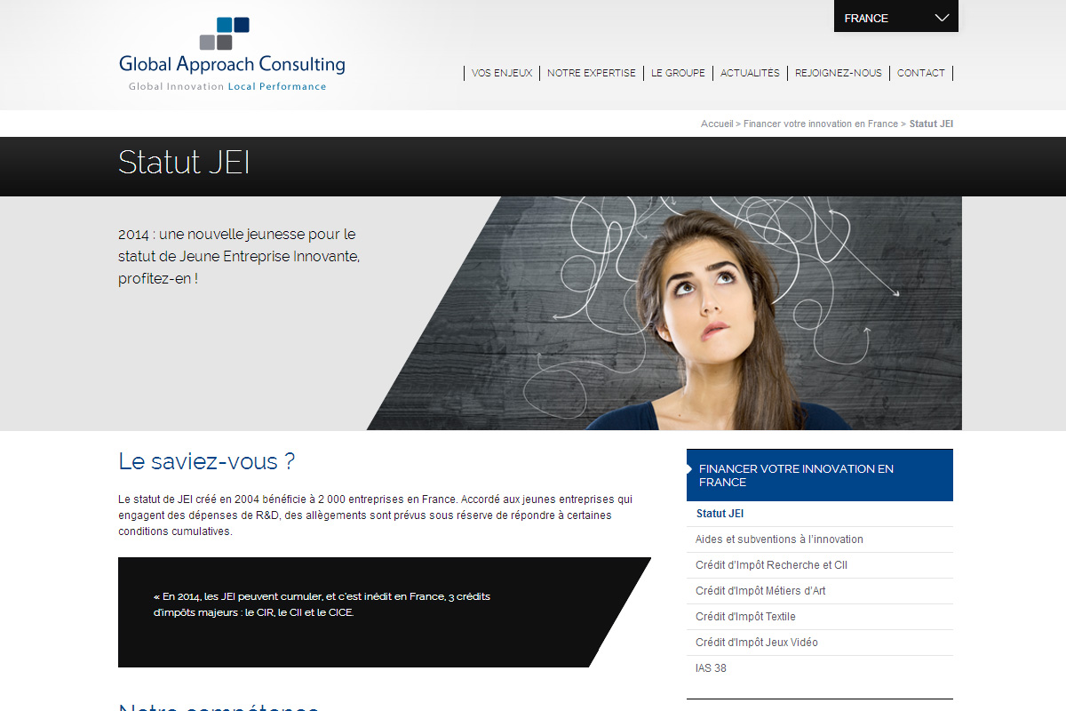 Site web de la soci t global approach consulting for Global design consultancy