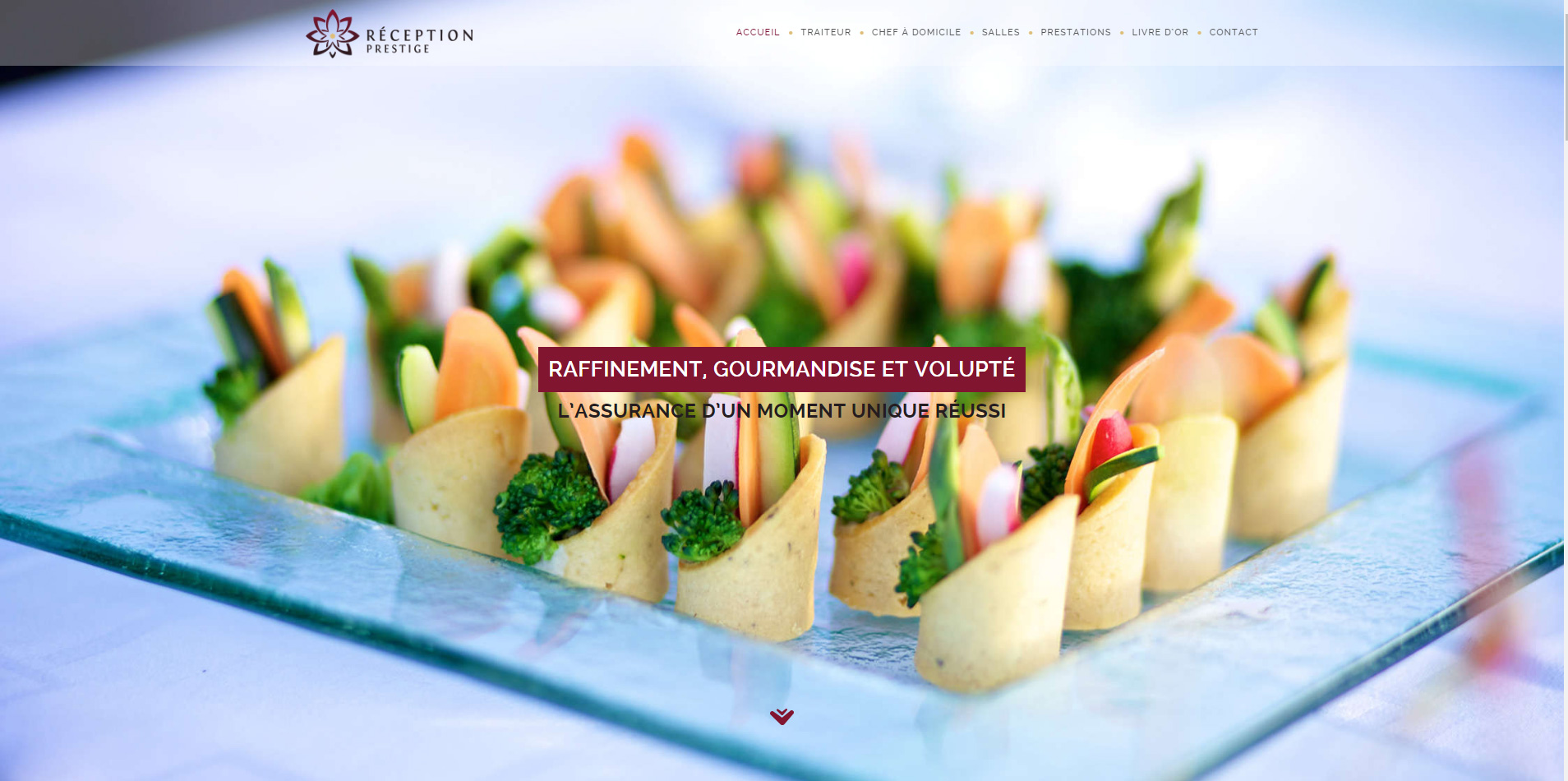Chef R. Hoefferlin website header